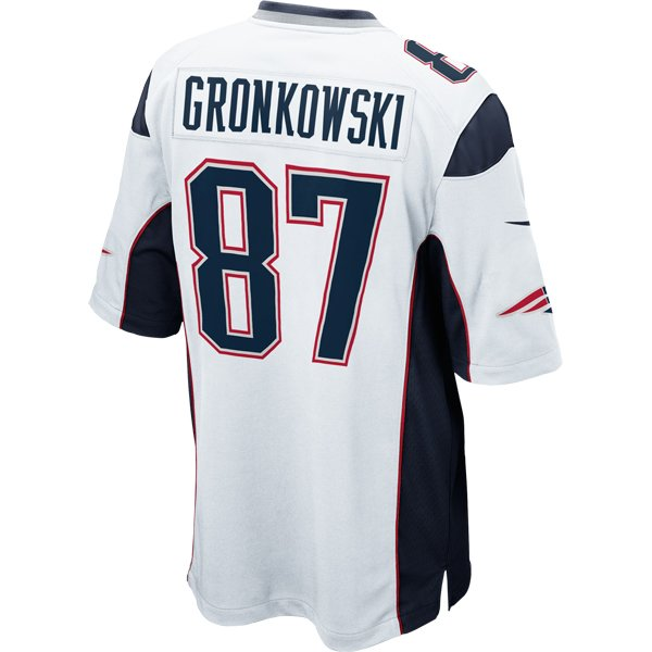 Nike Rob Gronkowski #87 Game Jersey-White