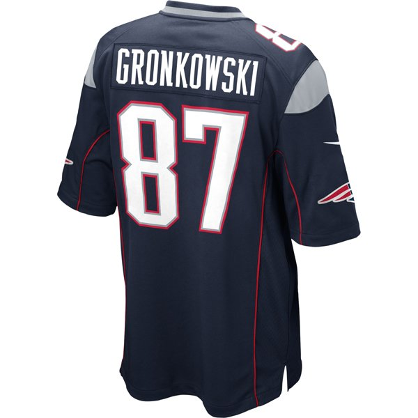 Nike Rob Gronkowski #87 Game Jersey-Navy