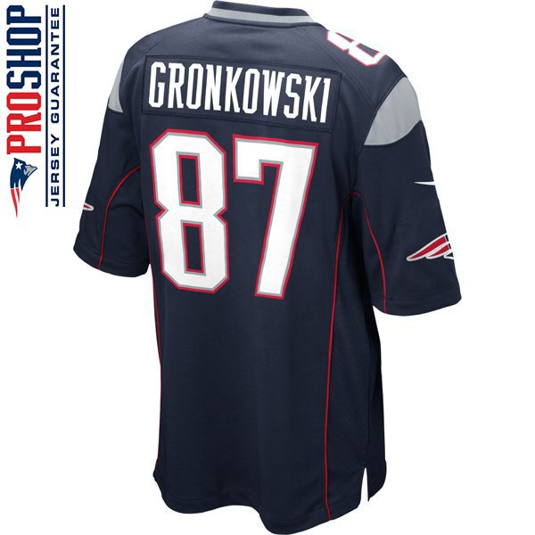 Nike Rob Gronkowski #87 Game Jersey-Navy