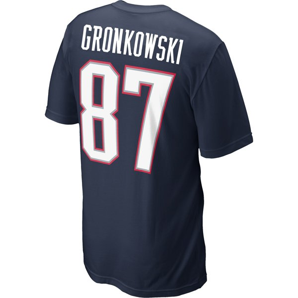 2012 Nike Gronkowski Name and Number Tee