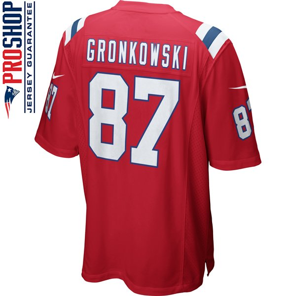 Nike Rob Gronkowski #87 Throwback Game Jersey-Red