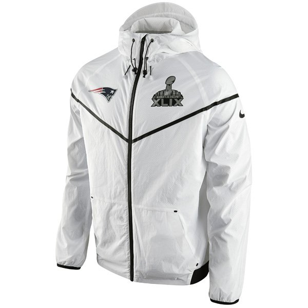 Super Bowl XLIX Wind Runner Jacket-White