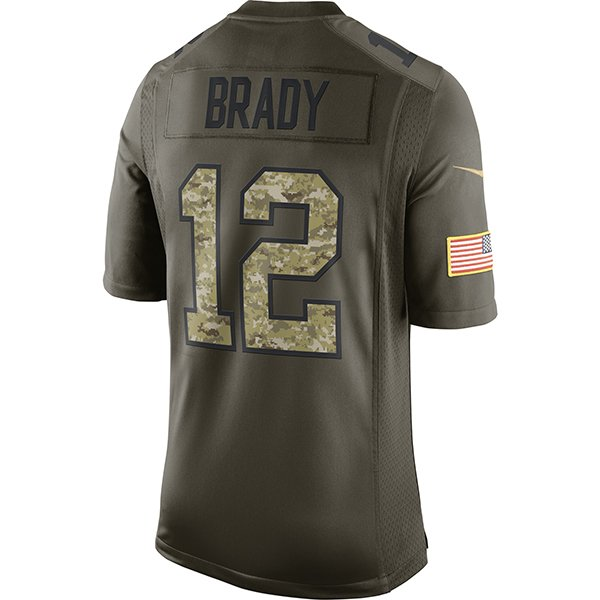 Nike 2015 Tom Brady Limited Salute to Service Jersey