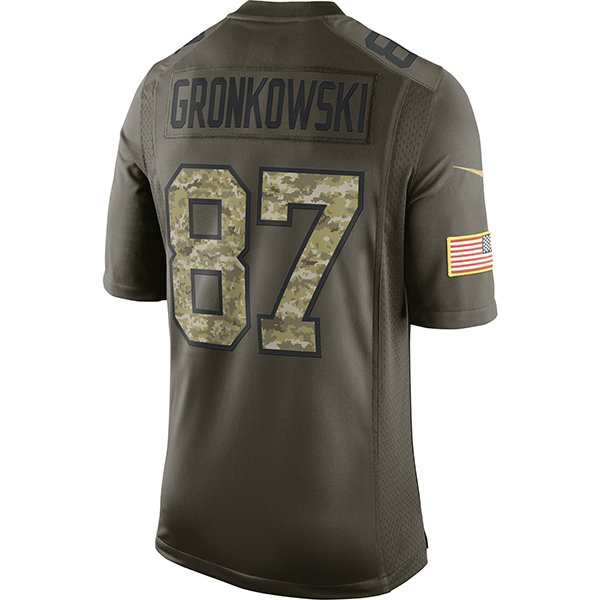 Nike 2015 Rob Gronkowski Limited Salute to Service Jersey
