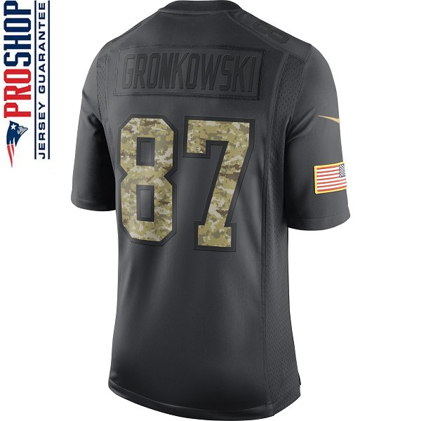 Nike 2016 Rob Gronkowski Salute To Service Limited Jersey-Charcoal