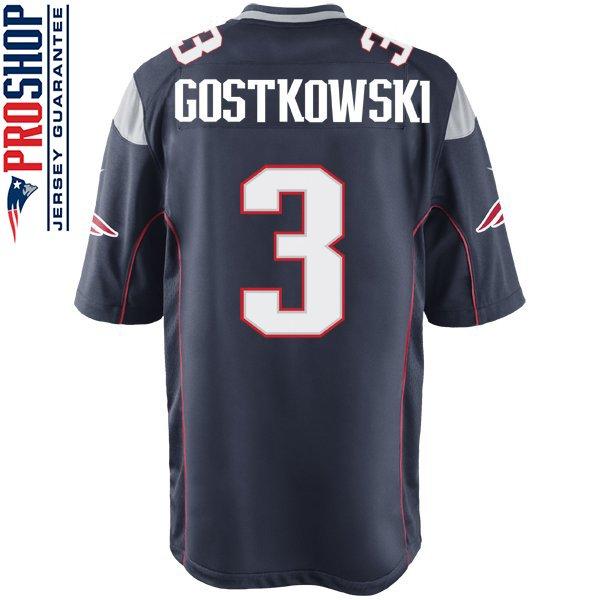Nike Stephen Gostkowski #3 Game Jersey-Navy