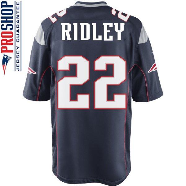 Nike Stevan Ridley #22 Game Jersey-Navy