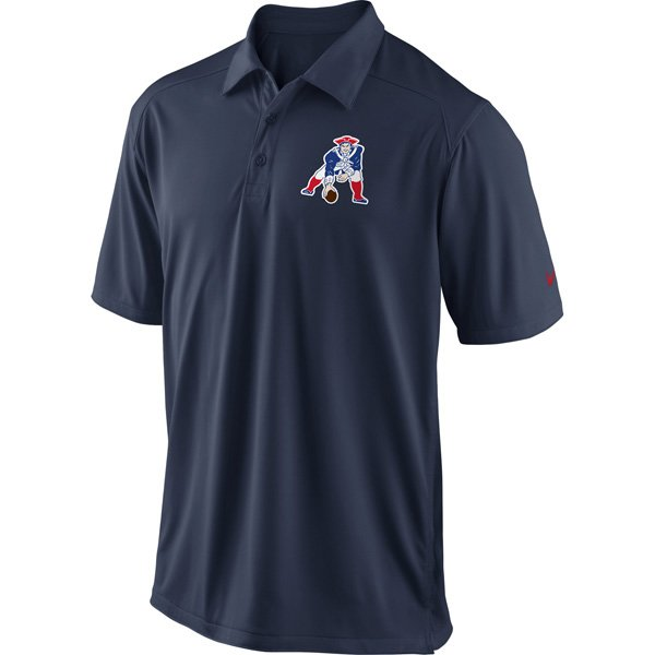 Nike Throwback Patriots Coaches Polo-Navy