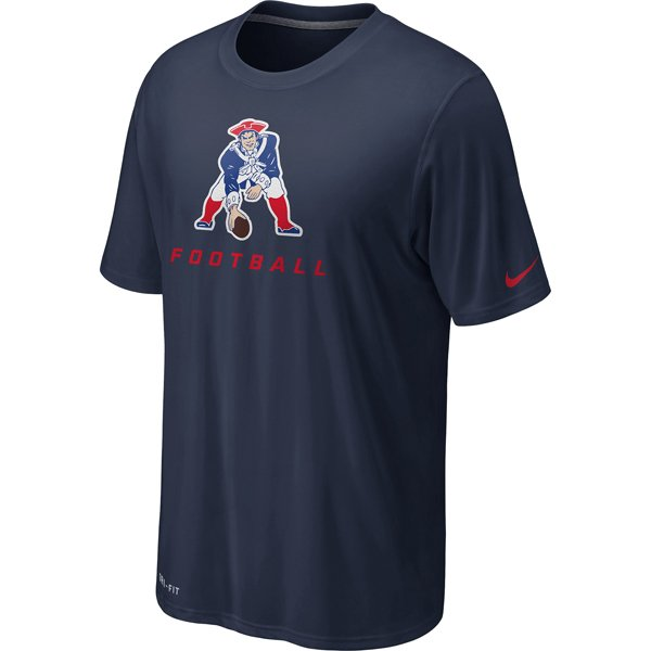 Nike Throwback Legend Logo Elite Tee-Navy