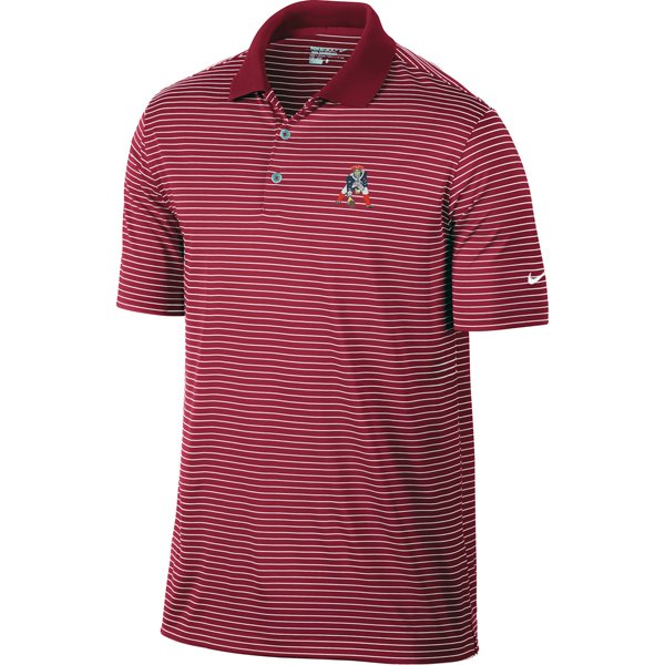 Nike Throwback Victory Stripe Polo-Crimson