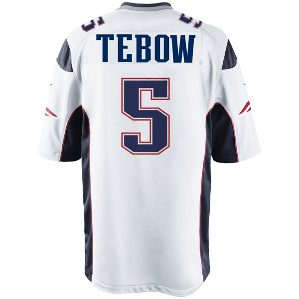 Nike Tim Tebow Game Jersey-White