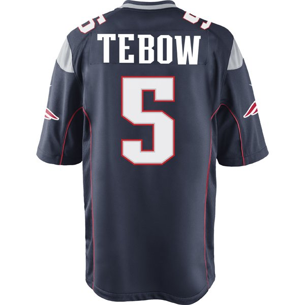 Nike Tim Tebow Game Jersey-Navy
