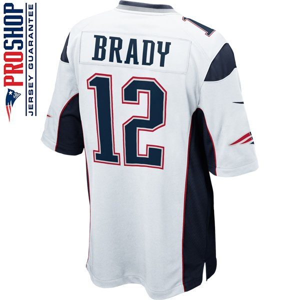 Nike Tom Brady #12 Game Jersey-White