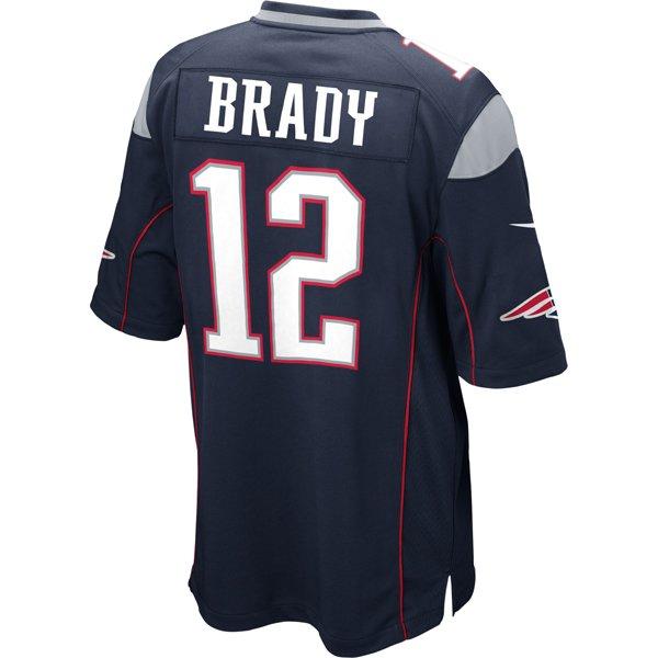 2014 Nike Tom Brady #12 Game Jersey-Navy