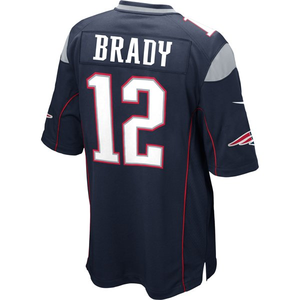 2014 Nike Tom Brady #12 Game Jersey-Navy