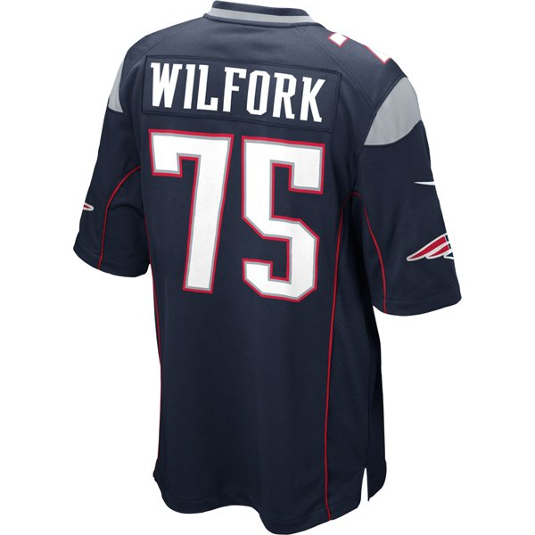 Nike Vince Wilfork #75 Game Jersey-Navy