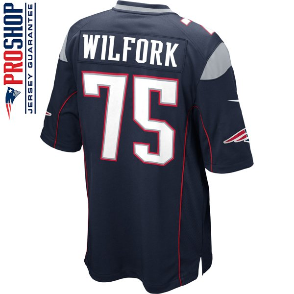 Nike Vince Wilfork #75 Game Jersey-Navy