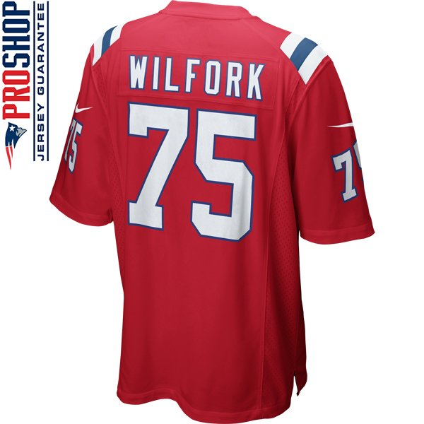Nike Vince Wilfork #75 Throwback Game Jersey-Red