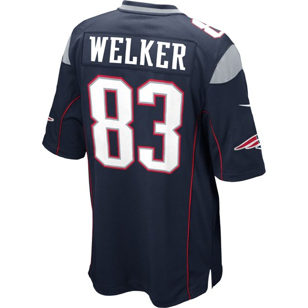 Nike Wes Welker #83 Game Jersey-Navy