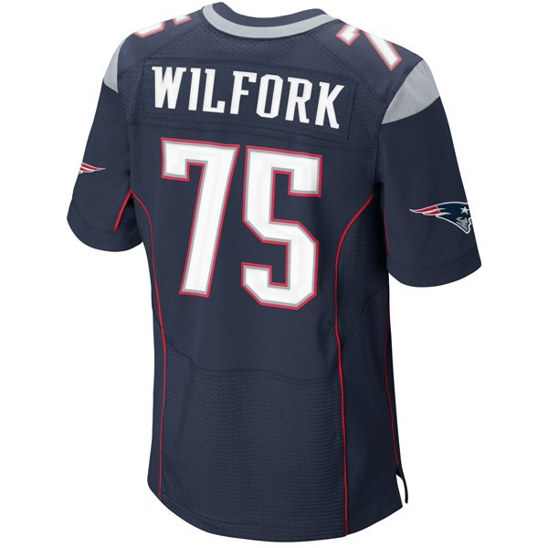 Nike Elite Vince Wilfork #75 Jersey-Navy
