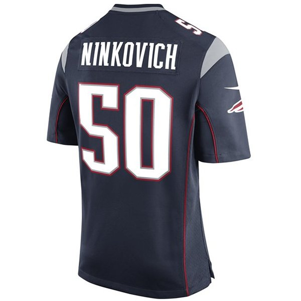 Nike Rob Ninkovich #50 Game Jersey-Navy