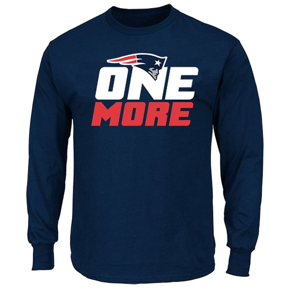 One More L/S Tee-Navy by Majestic