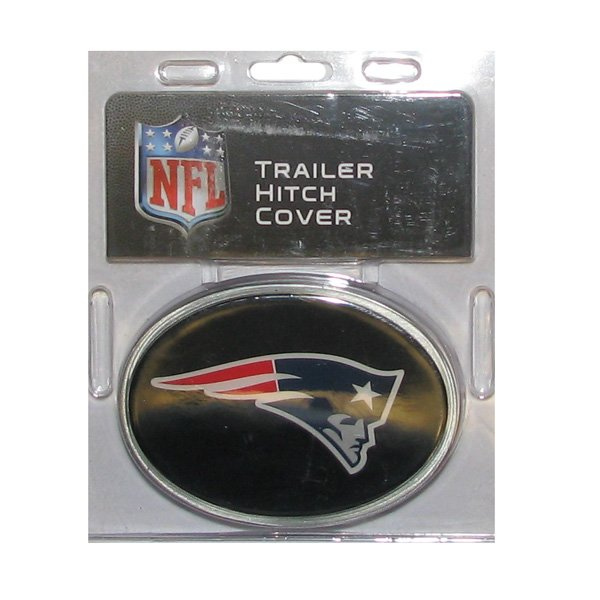 Patriots Oval Metal Hitch Cover