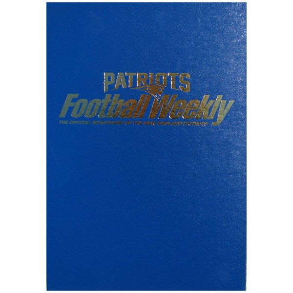 Patriots Football Weekly Binders