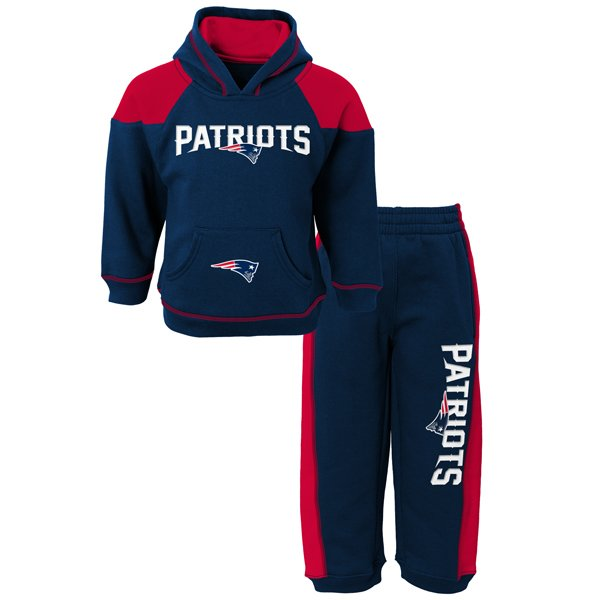 Preschool Rusher Fleece Set-Navy/Red