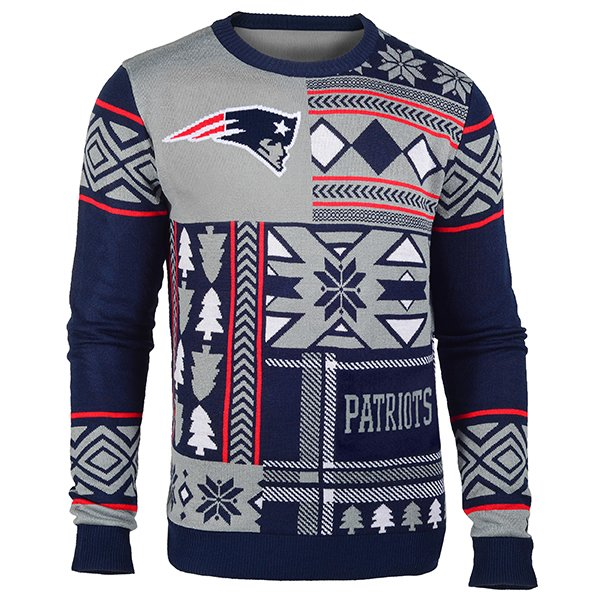 Patriots Patch Ugly Sweater