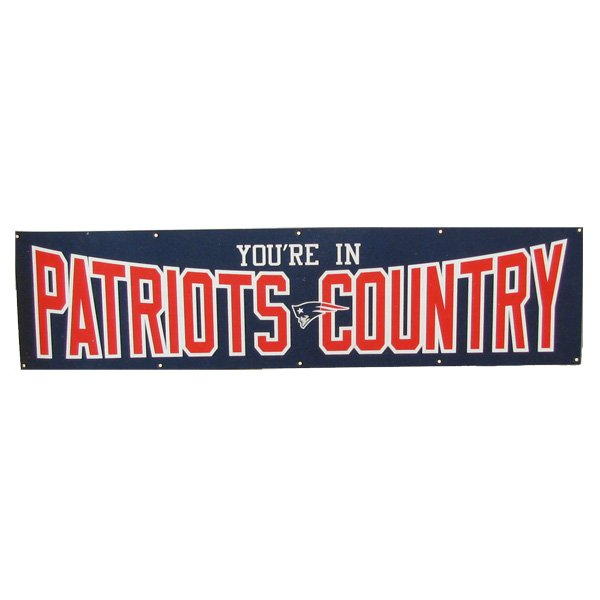 Patriots Country 8'x2' Banner
