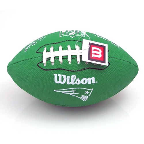 Patriots Green Rubber Football