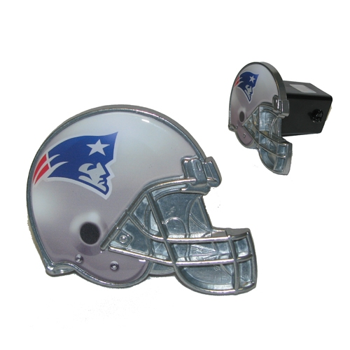 Patriots Metal Helmet Logo Metal Hitch Cover
