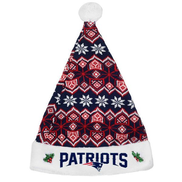 Patriots Knit Santa Hat