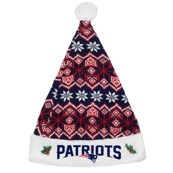 Patriots Knit Santa Hat