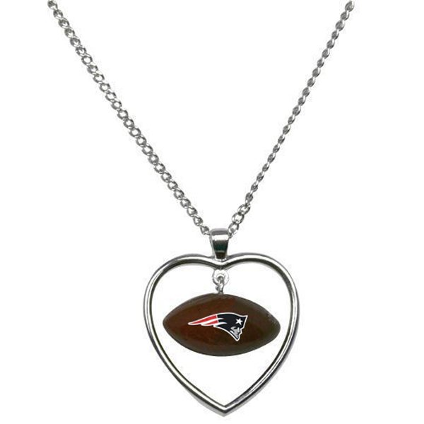 Patriots Mini Football/Heart Necklace