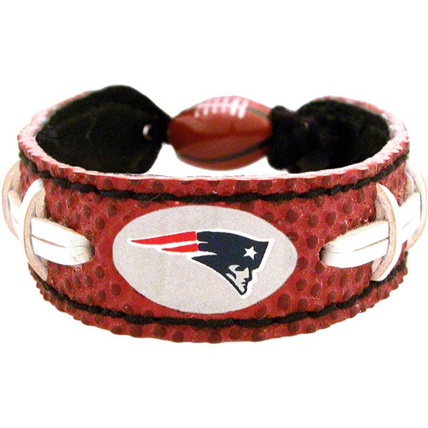 Patriots Logo Leather Wristband