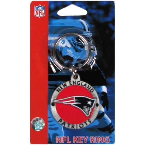 Patriots Metal Logo Keyring
