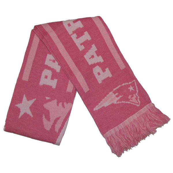 Patriots Pink Knit Scarf