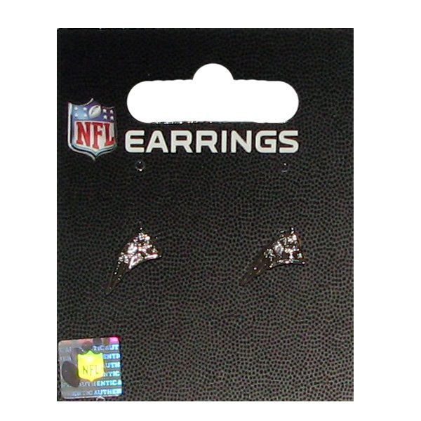 Patriots Logo Rhinestone Post Earrings
