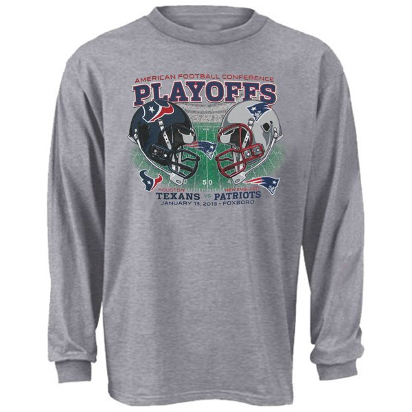 Patriots vs Texans L/S Dueling Tee-Gray