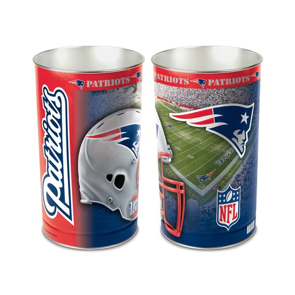 Patriots 15inch Wastebasket