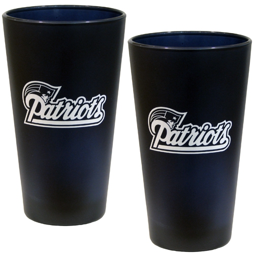 Patriots 2 pack Color Frosted Glasses