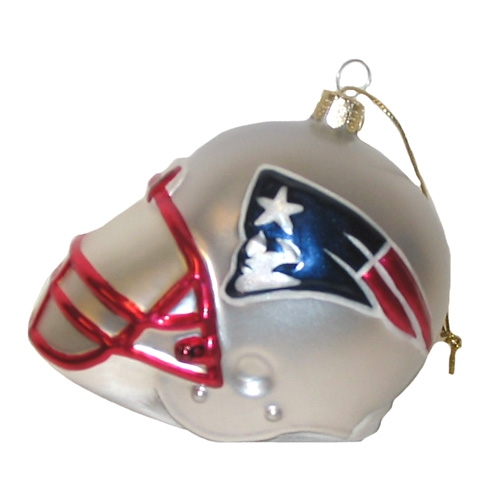 Pats 3 inch Helmet Ornament