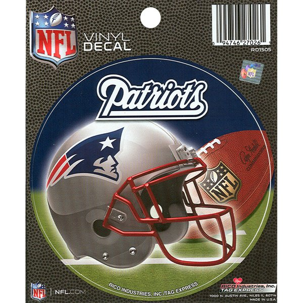 Patriots Round Vinyl Decal