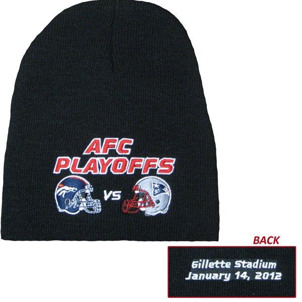 Patriots-Broncos Dueling Knit Hat 1-14-12