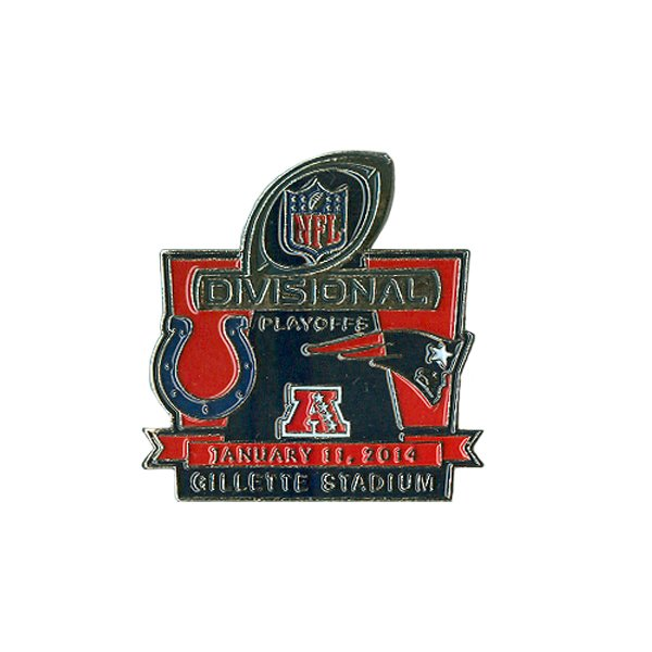 Patriots/Colts Gameday Pin 1-11-14