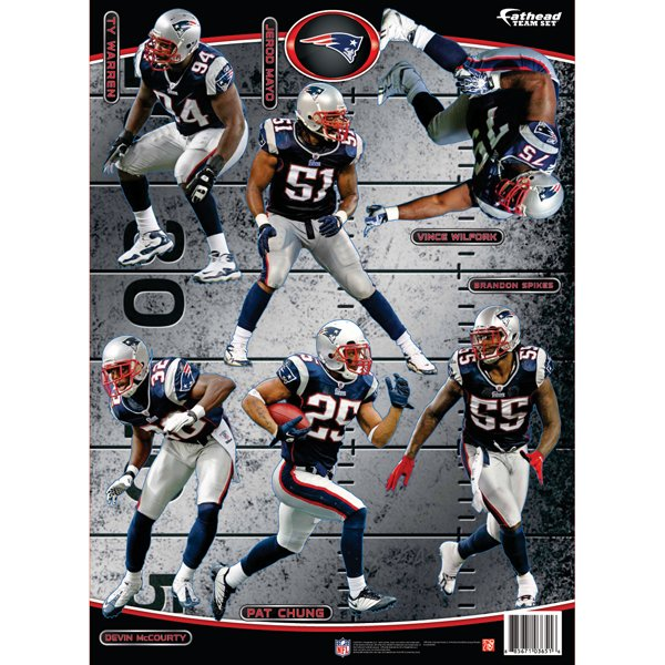 Patriots Defense Fathead Team Set