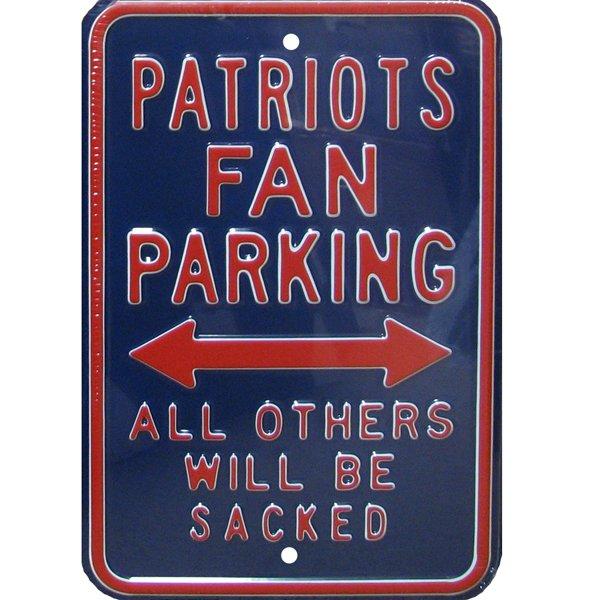 Patriots Fan Parking Metal Sign