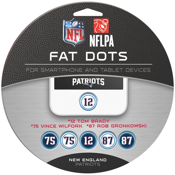 Patriots Fat Dots-12 Pack